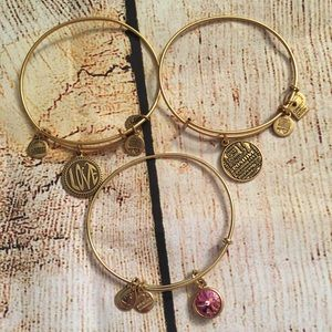 Alex and Ani Gold Bracelet Bundle